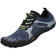 d0a34e83d0e SAGUARO Chaussures de Trail Running Homme Femme Chaussures Minimalistes  Chaussures de Sport Outdoor   Indoor Gym