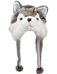 EOZY 1 Stück Niedlich Unisex Kreativ Tiermützen Plüschmütze Persönlichkeit und Weich Größe:18x30cm