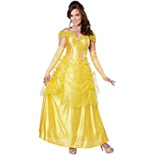 69e5c6d114f4 California Costumes Women's Classic Beauty Fairytale Princess Long Dress  Gown, Yellow, Large
