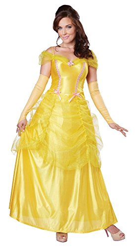California Costumes Women's Classic Beauty Fairytale Princess Long Dress Gown, Yellow, Large