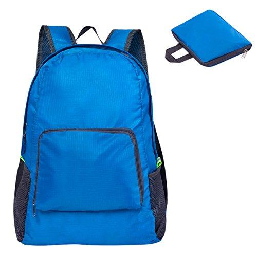 Easehome zaino leggero viaggio, 20l zaini pieghevole zaino da escursionismo impermeabile nylon daypack unisex borsa a tracolla per scuola viaggi campeggio sport arrampicata trekking, blu