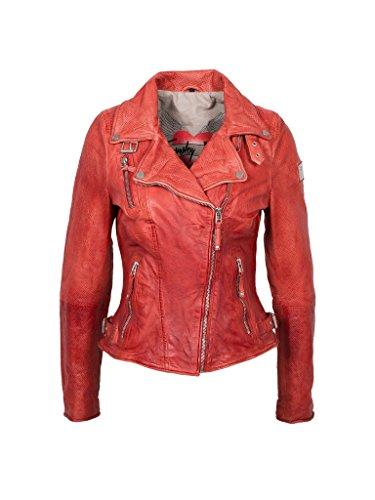 Freaky Nation Damen Jacke Real Love Echtleder,  Rot (Ribbon Red 4066),  34 (Herstellergröße: XS)
