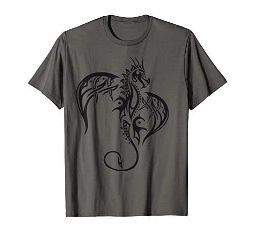 Drachen T-Shirt Dragon Fantasy Flügel Tribal Tattoo Fun - Drachen-grafik-t-shirts