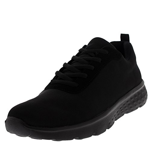 Get Fit Mens Mesh Running Trainers Athletic Walking Gym Shoes Sport Run - Black/Black Jersey GW0005 10UK/44