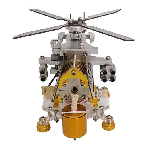 TETAKE Stirlingmotor Bausatz - Vakuum Stirlingmotor mit Generator Stirlingmotor Groß Stirling Engine für Kinder Student Lehrer - Hubschrauber-Modell