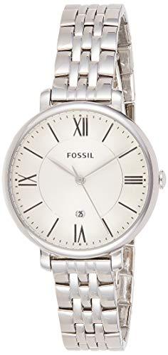 Fossil Damen Analog Quarz Uhr mit Edelstahl Armband ES3433
