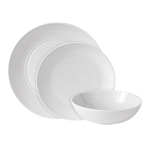 41UuFFjk5yL. SS500  - Royal Doulton Gordon Ramsay Maze GRMZWH22417, 12pc Dinnerware Set, White, Stoneware, 12-piece