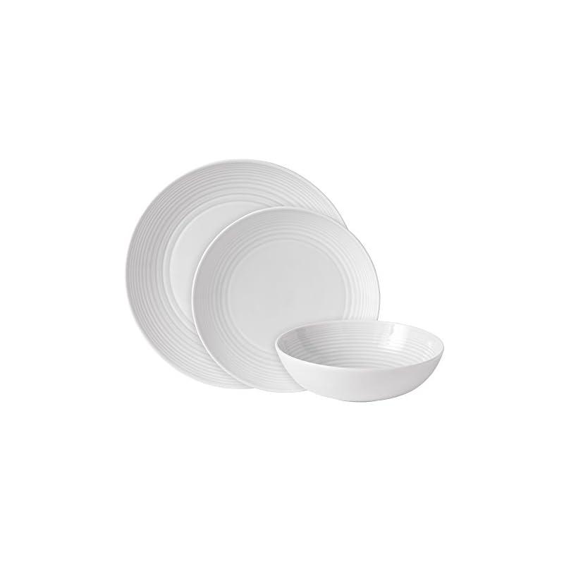 Royal Doulton Gordon Ramsay Maze GRMZWH22417, 12pc Dinnerware Set, White, Stoneware, 12-piece
