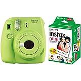 Fujifilm Instax Mini 9 InstantCamera (Lime Green) with Film (20 Shots)