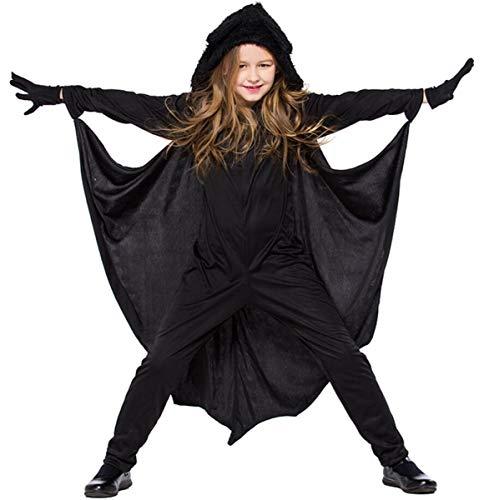 Kinder Mädchen Fledermaus Kostüm für Halloween Vampire Bat -