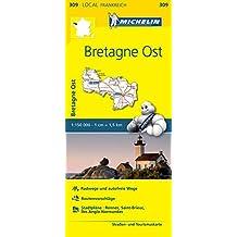 Michelin Bretagne Ost: Straßen- und Tourismuskarte 1:150.000 (MICHELIN Localkarten)