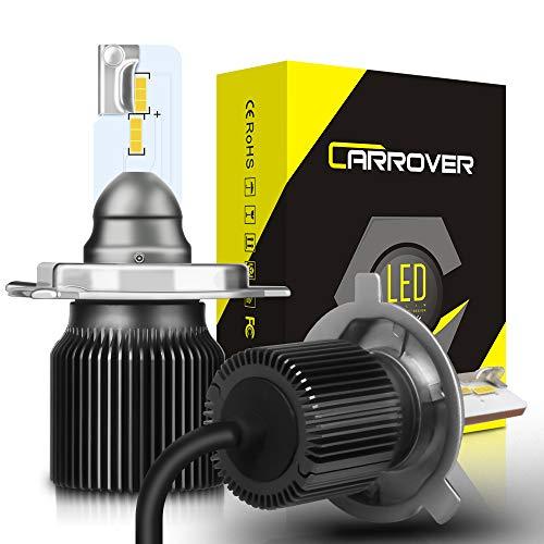 Bombillas H4 LED, Faros Delanteros Luces Lámparas para Coche y Moto, 8000LM,...