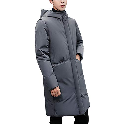 1af375a0f Tenthree Long Blouson Chaud Padded Coton Duvet Doudounes Homme - Quilted  Puffer Hooded Bubble Neck Zip Down Jacket Coat