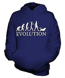 Candymix - Basset Hound Evolution Of Man - Unisex Hoodie Mens Ladies Hooded Sweater