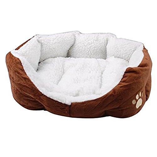 Tping Soft Fleece Indoor Extra Weich Tierbett Hundebett Katzenbett Hundesofa Katzensofa Tierkorb Hundekorb Katzenkorb, Groß, Braun (Fleece-zubehör Deluxe)