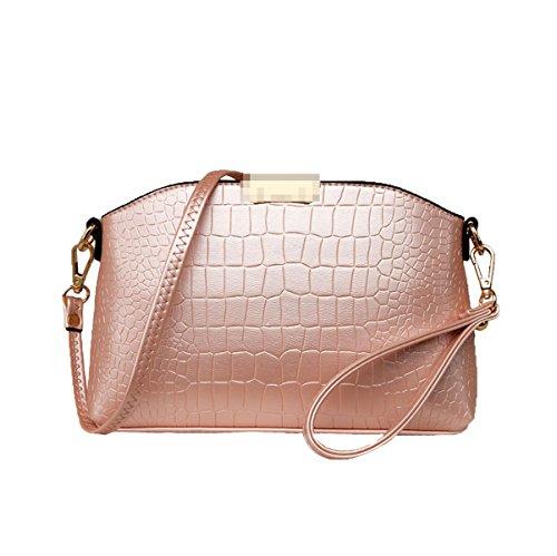 Borsa In Pelle In Pelle Vintage Borsa Da Donna Crossbody Bag Borsa A Tracolla In Raso Di Satchel Pink