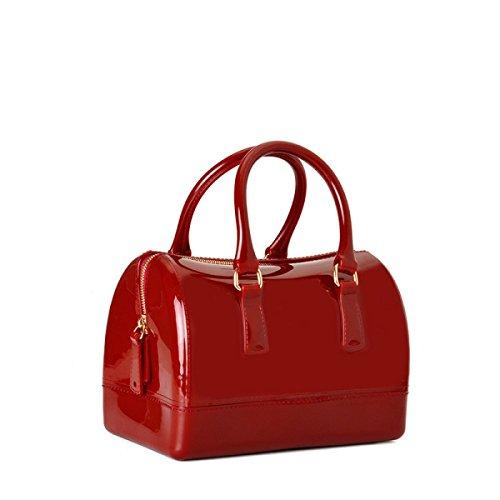 Schwarz Handtasche Messenger Boston Tasche Europa Und Den Vereinigten Staaten Mode Handtaschen Medium Umhängetasche Kissen Geleebeutel WineRed