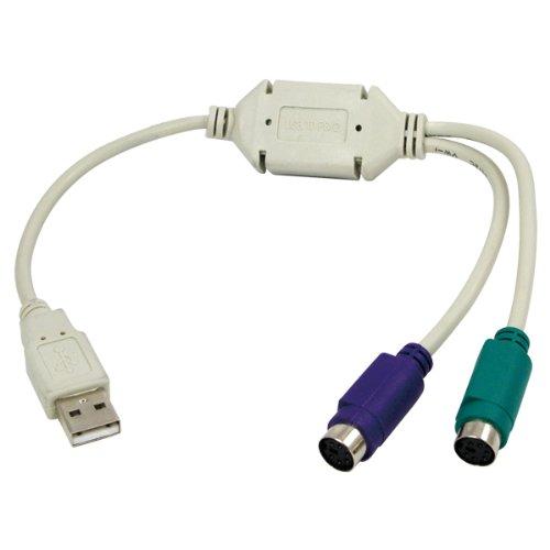LogiLink AU0004A - Adaptador USB a PS/2, 0.2 m