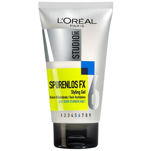L'Oréal Paris Studio Line Haar-Gel Spurenlos FX Styling Gel, 24h starker Halt, 1 x 150 ml