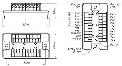 Yacht Devices NMEA 0183 - Multiplexer - YDNM-02