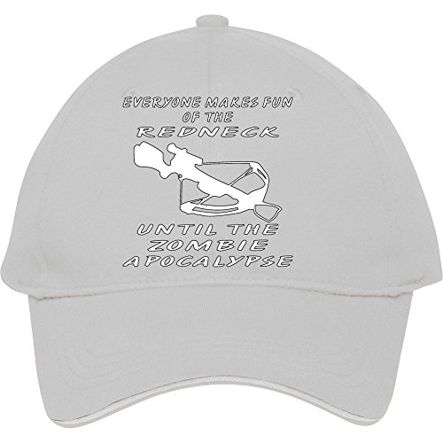 Jeder Macht Spaß der Redneck, bis die Zombie Baseball Snapback Cap. Baumwolle in Frauen-donfar Hüte verstellbar Hat, damen unisex Herren, weiß (Hats Miss Ole)
