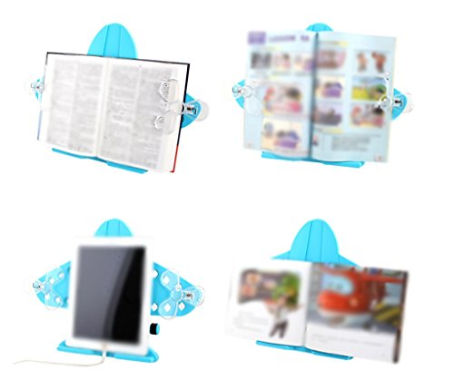 DFHHG® Plegable Libro Stand 29.5 * 38 Cm Marco de lectura Estantes de lectura Lovely Creative Student Blue durable
