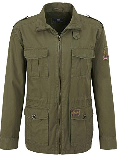 Jan Vanderstorm Herren Fieldjacket Bror Oliv 60 - 2XL