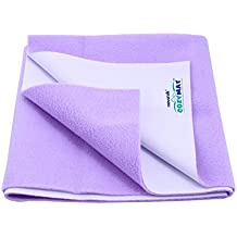 Newnik Cozymat Dry Sheet, Soft, Water-Proof & Reusable Mat (Size: 70cm X 50cm) Purple, Small