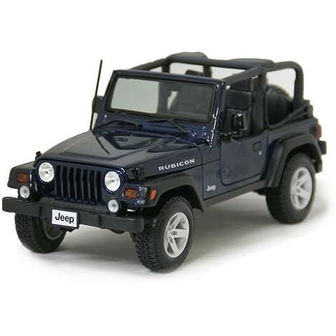 Jeep Wrangler Rubicon Azul 1/18 Maisto [minicar, Jeep, Wrangler, Rabikon, Maisuto, coche americano, tracci?n a las cuatro ruedas todo terreno] (jap?n importaci?n)
