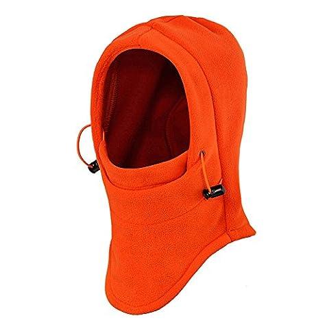 Ezyoutdoor Windproof Bucket Hat New Winter Thermal FLEECE Swat Ski Face Mask Hat for Outdoor Sports Hiking Camping Travel Riding Backpacking Walking Survival (Orange)