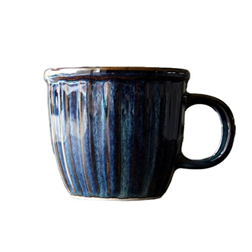 MODERN CERAMIC CNC Galaxy Coffee & Tea Mug Set of 2,Blue Ceramic Coffee Mug (LINEAR) Galaxy Glaze