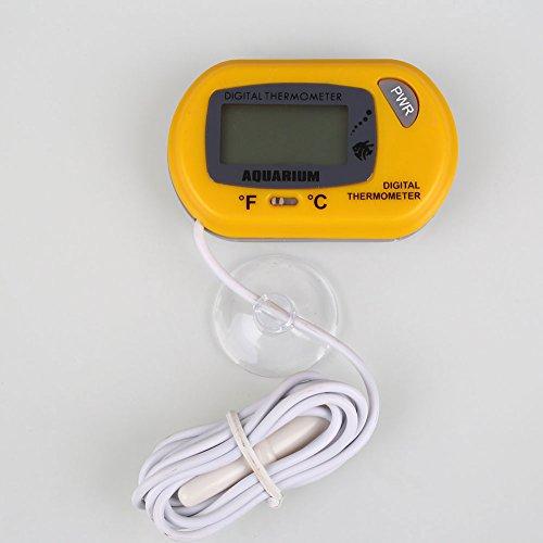 Kicode LCD-Uhr Digital Thermometer Klebstoff Fisch-Aquarium Wasser Haus Terrarium Aquarium liefert Werkzeug Salzwasser-aquarium-thermometer