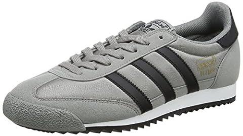 adidas Originals Dragon Og, Sneakers Basses Homme, Gris (Ch Solid Grey/core Black/footwear White), 43 1/3 EU
