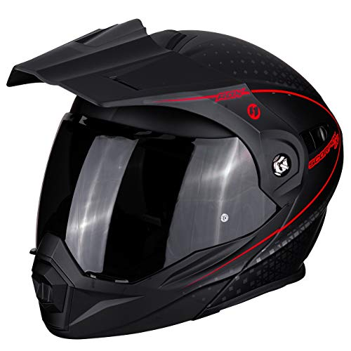 SCORPION Casque moto ADX-1 HORIZON Matt Black-Neon red, Noir/Rouge, XL