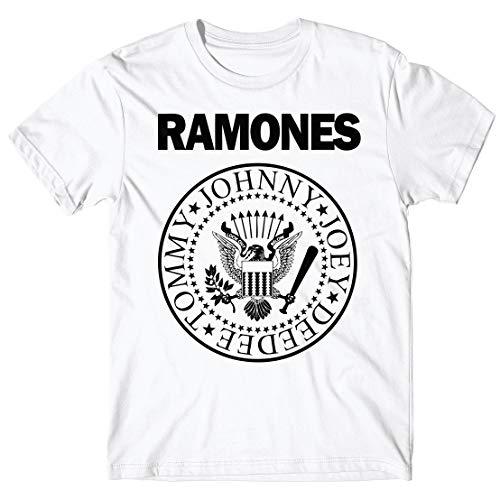 LaMAGLIERIA Camiseta Hombre - Ramones Camiseta con Stampa Rock...