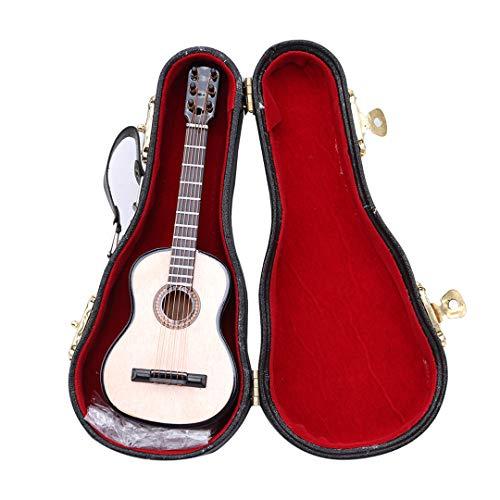 Modell für Wohnkultur Miniatur Musikinstrumente Sammlung Mini Musikalische Ornamente Handwerk Geschenk mit Ständer Fall ()