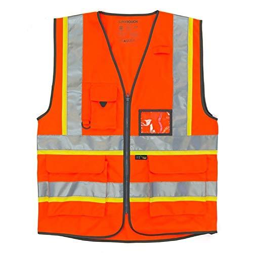 Erwachsene Oberbekleidung (Islander Fashions Erwachsene Hi Vis Viz Executive Weste Unisex Arbeitskleidung mit hoher Sichtbarkeit Oberbekleidung Orange 4X-Large)