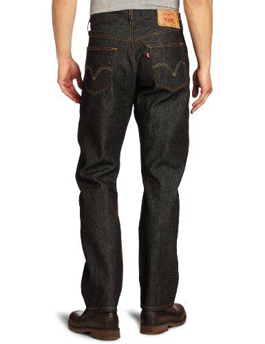 Levi's Herren Jeans 501 Original Straight Fit Black Stf