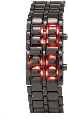 Pandawill Lava Style Iron Samurai Red LED Black Dial Watch -(DT0935BR-B)
