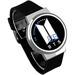 Skisneostype BTS - Reloj de Pulsera Deportivo Digital con LED Resistente al Agua para niños, Black 06