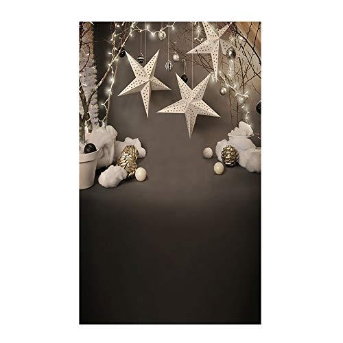 (Le yi Wang You San Bodhi® Hintergrund Weihnachtsbaum Realistische Kinder-Fotografie Foto Requisite (150 x 220 cm), Vinyl, 2)