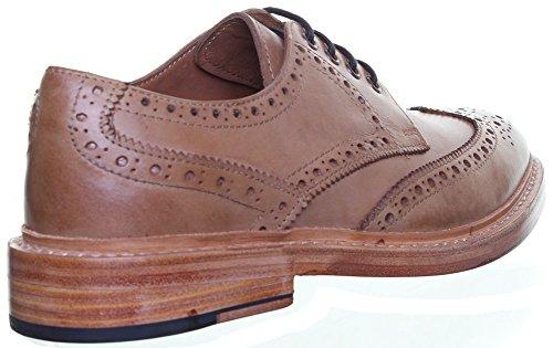 Reece Justin Dylan renforcées en cuir GoodYear mat pour chaussures Beige - Tan 4SQ
