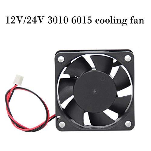 Laliva 3D-Drucker - DC12 V/24 V 3010 6015 Kühlventilator für 3D-Drucker 12V 6015 Fan
