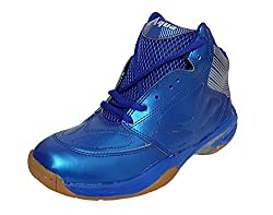 xAQUA Basketball Blue Basketball Shoes for Men Boys Women Girls Junior PU Material Non Marking Sole Outdoor Indoor Playing - Best in Running Walking Sports Jogging (7 INDIA/UK)