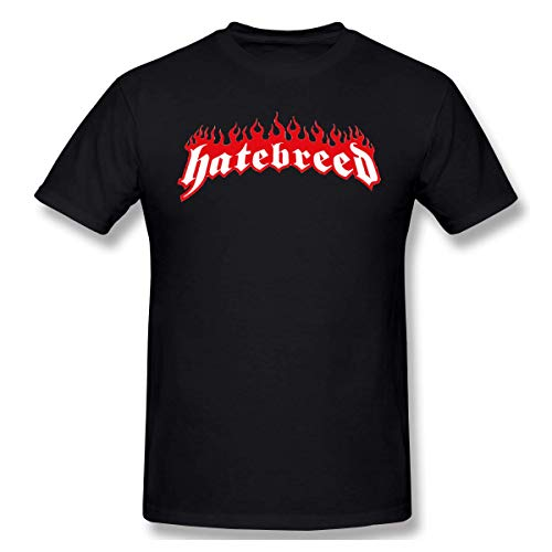 Mens Vintage Hatebreed Logo T-Shirts L Black L -