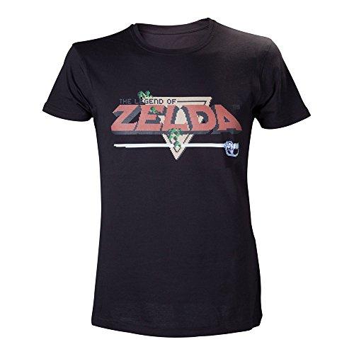 NINTENDO Leyenda de Zelda Pixelated Logo Diseño Hombre Camiseta T (Pe