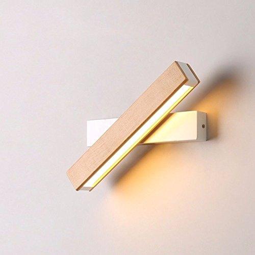 LIYAN minimalistische Wandleuchte Wandleuchte E26/E10333Kreatives Design Holz LED Wandleuchte Schlafzimmer Studie spiegelt die fabelhafte gateway Flur balkon Bett Eisen Wandlampen, B (Gateway-bett)