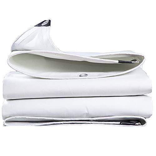 ANUO Planen Tarp Cover Heavy Duty, 28 Mil Proof Plane Pergola Canopy Sonnenschutz Tuch UV-beständige Schutzfolie Reversible (Color : White, Size : 12x15ft/4x5m) - Heavy Duty Premium White Tarp
