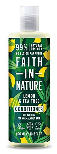 Faith in Nature - 100% natürlicher Haarspülung mit Zitrone und Tee für alle Haartypen - für häufiges Waschen - freie Sulfate - freies Paraben - Vegan