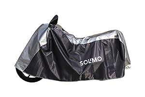Amazon Brand - Solimo Universal Bike Water Resistant Bike Cover (Dark Blue & Silver)